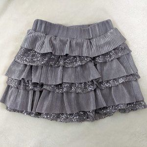 Justice Girls Silver Sequin Skirt w/ Shorts Sz. 7